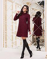 Плаття-туніка бордового кольору