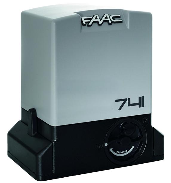 Привод Faac 741 с встроенным блоком управления 740D и монтажной пластиной, интенсивность - 40%