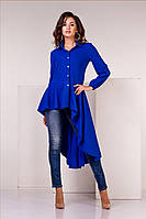 Блузка асиметрична синього кольору, фото 1