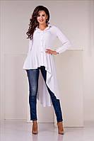 Блузка асимметричная белого цвета, фото 1