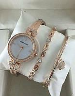 Женские часы Аnne Klein (Gold) c браслетами