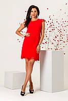 Платье с перфорацией красного цвета  , фото 1