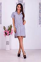 Сукня-сорочка в сіру смужку