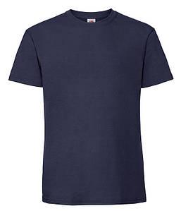 Мужская футболка плотная из хлопка S, 32 Темно-Синий