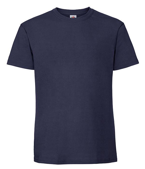 Мужская футболка плотная из хлопка M, 32 Темно-Синий