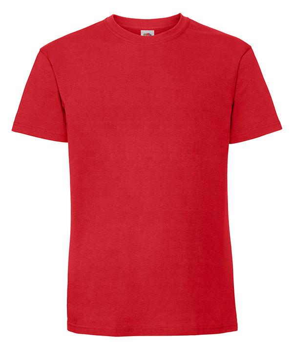 Мужская футболка плотная из хлопка 4XL, 40 Красный