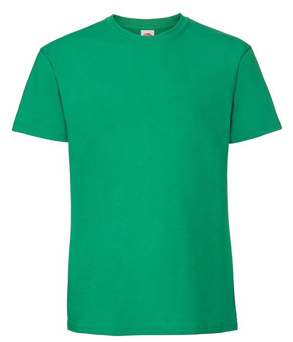 Мужская футболка плотная из хлопка 4XL, 47 Ярко-Зеленый