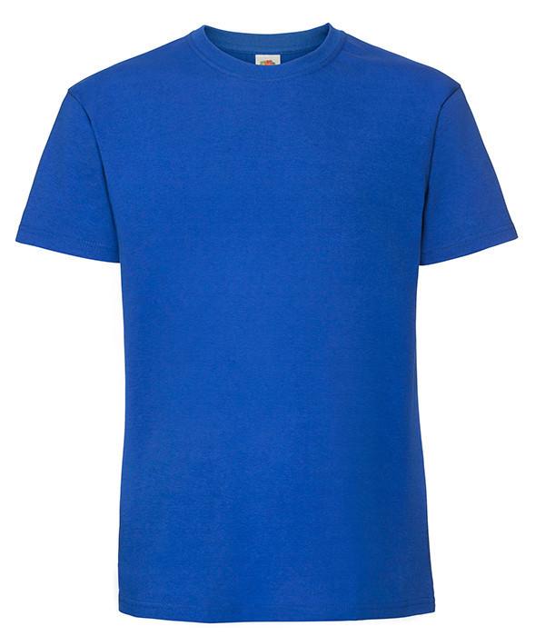 Мужская футболка плотная из хлопка XL, 51 Ярко-Синий