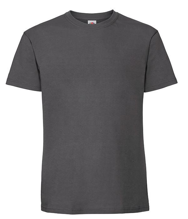 Мужская футболка плотная из хлопка 5XL, GL Светлый Графит