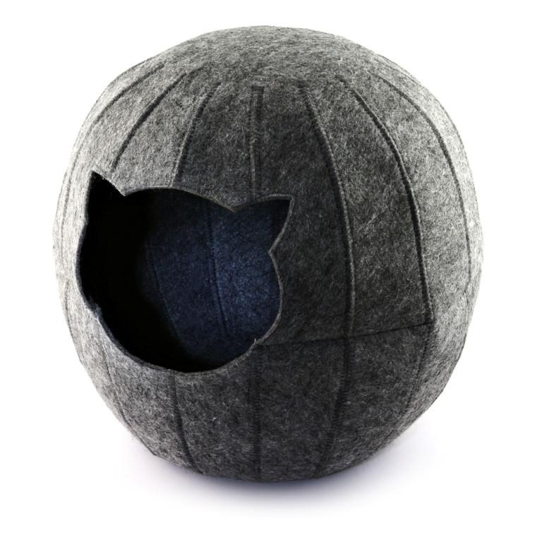 Digitalwool  Домик для кошки Шар без подушки (Нижнее основание 25 см Диаметр по центру 37 см Высота 35 см)