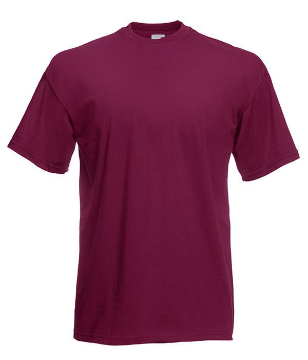 Мужская футболка плотная из хлопка M, 41 Бордовый