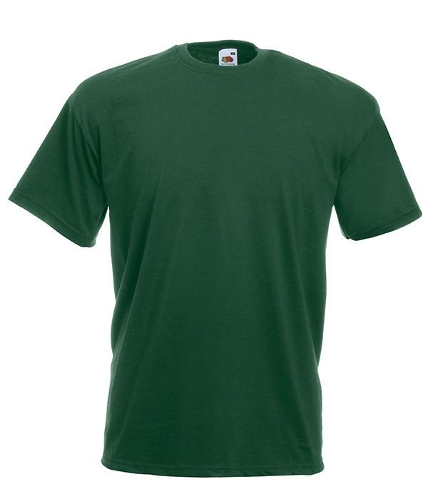 Мужская футболка плотная из хлопка 5XL, 38 Темно-Зеленый