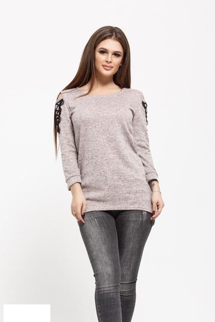 Женский свитер   цвета пудры  от YuLiYa Chumachenkо