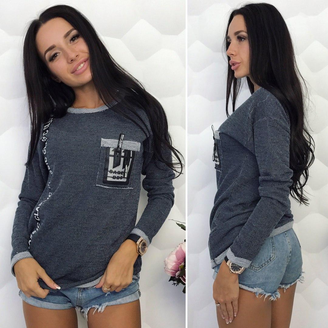Женский свитер серого  цвета  от YuLiYa Chumachenkо