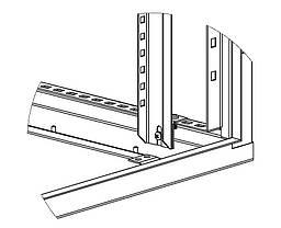 Перфорированная вертикальная стойка ПВС1600 (2шт), фото 2