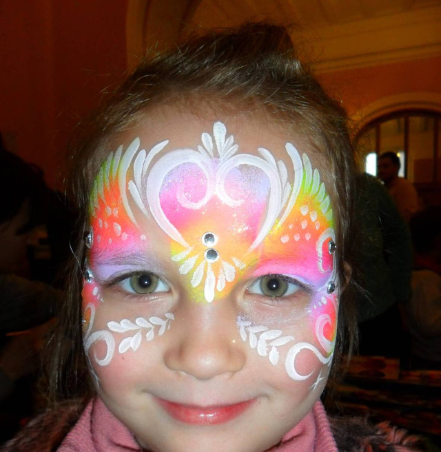 Аквагрим Киев,услуги аквагримера,рисунки на лице для детского праздника