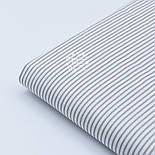 Хлопковая ткань с мелкой полоской тёмно-серого цвета (№466), фото 3