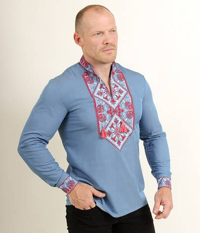 """Рубашка - вышиванка """"Мужская гора"""", фото 2"""