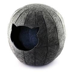 Digitalwool  Домик для кошки Шар с подушкой (Нижнее основание 25 см Диаметр по центру 37 см Высота 35 см)