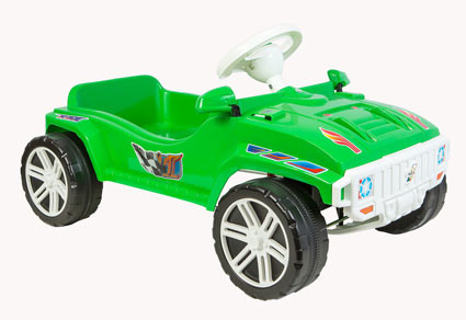 Машинка педальная для катания Орион Зеленая