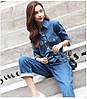 Комбинезон плотный джинс сзади и по бокам есть карманы. Размер: 42-46. Цвет: синий (6318), фото 2
