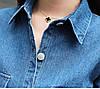 Комбинезон плотный джинс сзади и по бокам есть карманы. Размер: 42-46. Цвет: синий (6318), фото 4