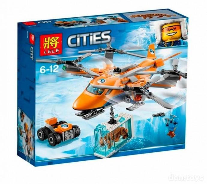 Конструктор LELE City Арктический вертолет 28023 (Аналог Lego City) 296 дет.
