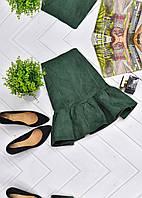 Замшевая мини-юбка с оборкой, фото 1