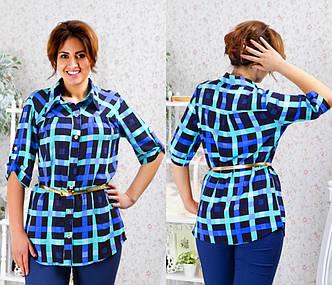 Женская рубашка №76-381/1 БАТАЛ