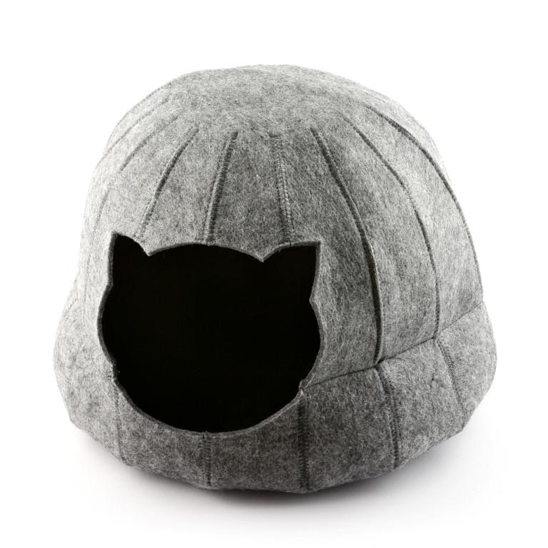 Digitalwool Будиночок для кішки Півсфера з подушкою ( Діаметр основи 42 см Висота 28 см)
