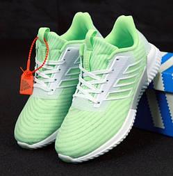 Женские кроссовки Adidas Climacool Cm салатовые. Живое фото. Реплика