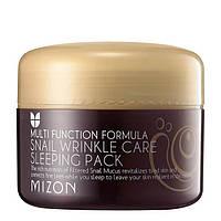 Ночная антивозрастная маска с фильтратом улиточной слизи Mizon Snail Wrinkle Care Sleeping Pack