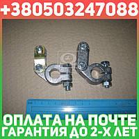 ⭐⭐⭐⭐⭐ Клемма аккумуляторная 2 шт. (свинец) РЕМОНТНАЯ усилен.КАМАЗ,МАЗ,ГАЗ,Трактора (480 группа ) стальной зажим  11-3703210-20