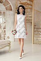 Стильное белое короткое платье для выпускного вечера размер 42-50