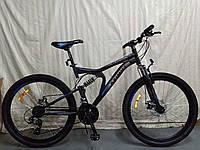 """Велосипед горный двухподвесной  Blaster 24"""" черно-синий, фото 1"""