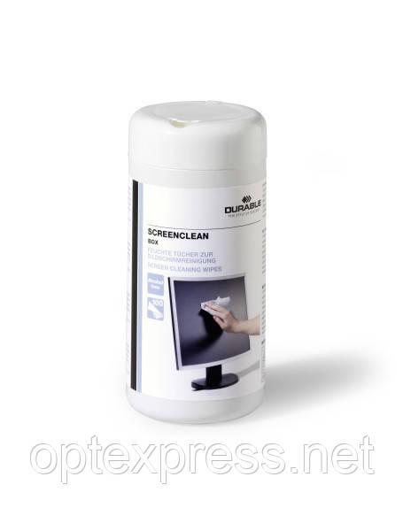 Антистатический очиститель (салфетки) для экрана компьютера DURABLE 5736 02