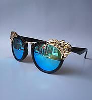 Женские солнцезащитные очки KAIZI 6364 с синим напылением