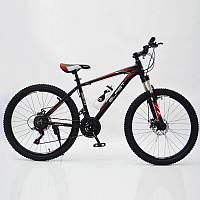 """Стильный спортивный велосипед BLAST-S300 26"""", рама 17"""", красный, фото 1"""