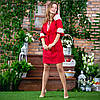 Женское красное платье вышиванка с кружевом, фото 2