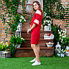 Женское красное платье вышиванка с кружевом, фото 4