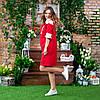Женское красное платье вышиванка с кружевом, фото 5