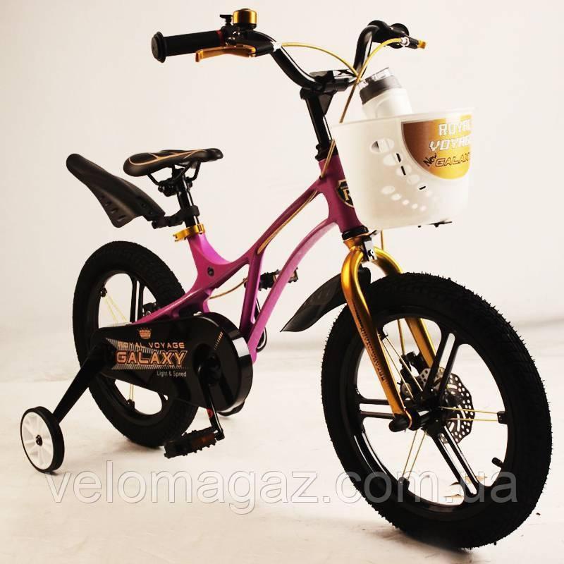 """Детский велосипед SIGMA GALAXY Violet 16"""" магниевая рама (Magnesium)"""