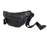 Мужская кожаная сумка на пояс Dovhani  SW8683855 Черная