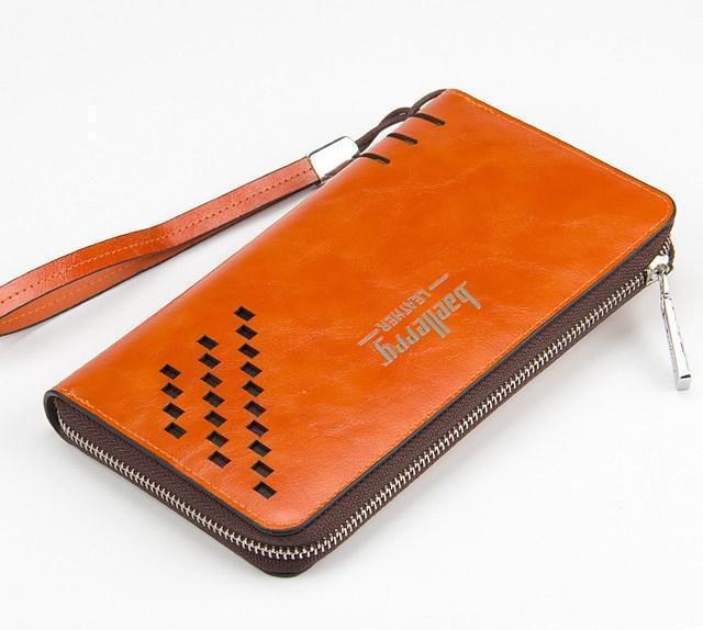 Кошелек мужской, портмоне Baellerry Leather SW009 Orange