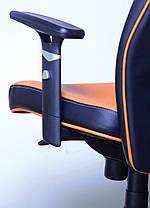 Кресло Элеганс LB Неаполь-51 (св.коричн.), боковины/задник Неаполь-20 (черный) (AMF-ТМ), фото 3