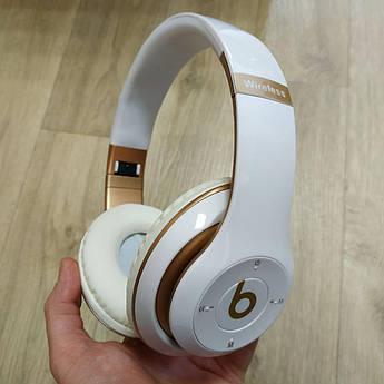 Накладні бездротові Bluetooth-навушники Beats Studio 3 by Dr. Dre Wireless білі