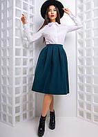 Кашемировая юбка миди со складками