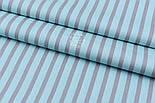 """Отрез сатина """"Серые полоски 6 мм"""" на мятно-бирюзовом, №1726с размер 50*160, фото 4"""