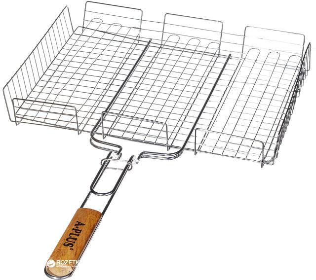 """Решетка для гриля """"А-Плюс"""" 31x24x6 см ,барбекюшница металлическая, барбекю, гриль сетка"""