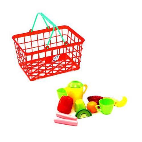 """Корзинка """"Супермаркет М"""", 12 предметов (красная) 423 в.2, фото 2"""